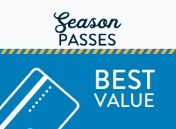 """Season Pass card on blue background with text that says """"best value"""""""