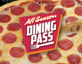 All Summer Dining Pass Image with Pizza background
