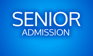 Senior Admission with Blue Background