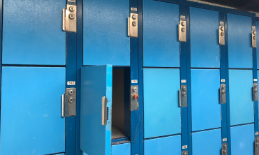 Line of rental lockers