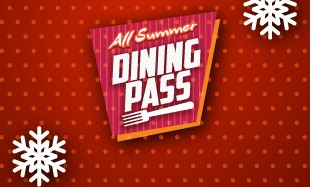 All Summer Dining Pass Image sky background with fork