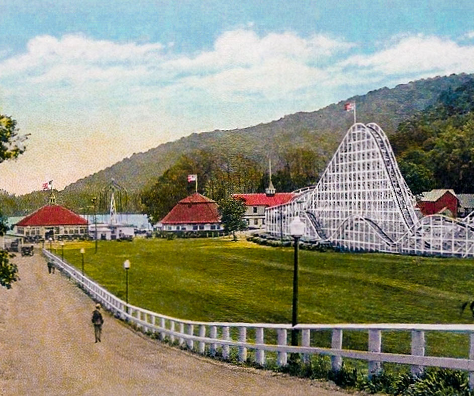 Historical photo of Lake Compounce circa 1920