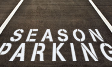 Parking space with the text