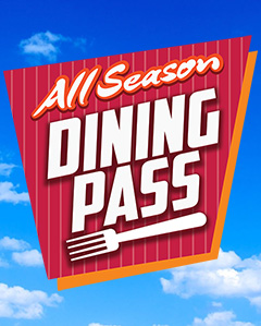 All Season Dining Pass Image sky background with fork